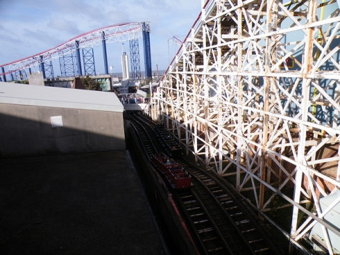 Classic coasters such as Grand National add to the Pleasure Beach's nostalgia. Image © Matthew Wells