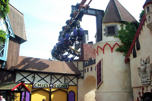 The Vampire roller coaster interacts with impressive theming.Image © Kevin Geraghty-Shewen
