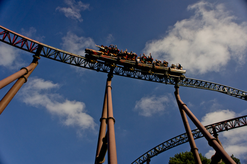 There's no doubt that the coasters are the biggest draw at Alton Towers. Image © Phonnita Nakasint